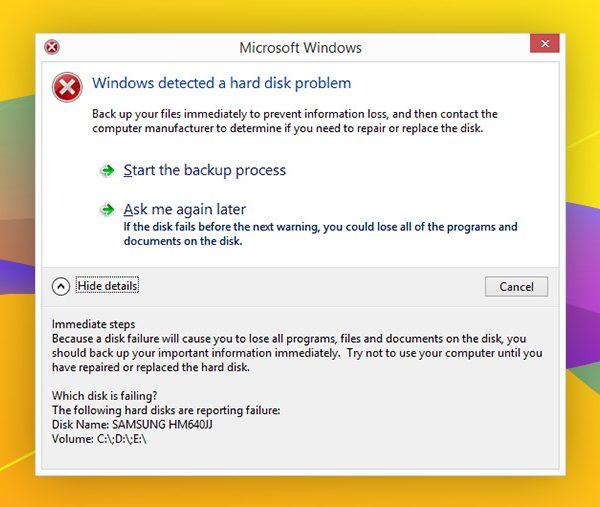 ابزار بررسی هارد دیسک ویندوز
